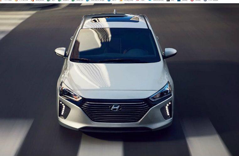 front view of 2019 hyundai ioniq hybrid