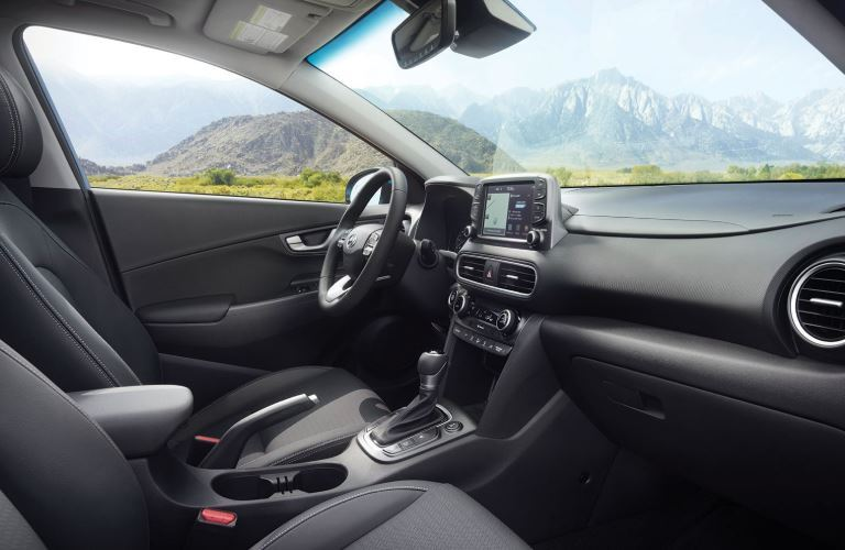 front seats of a hyundai kona