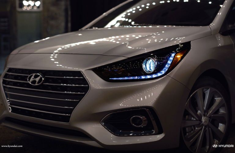 2018 Hyundai Accent view from the front