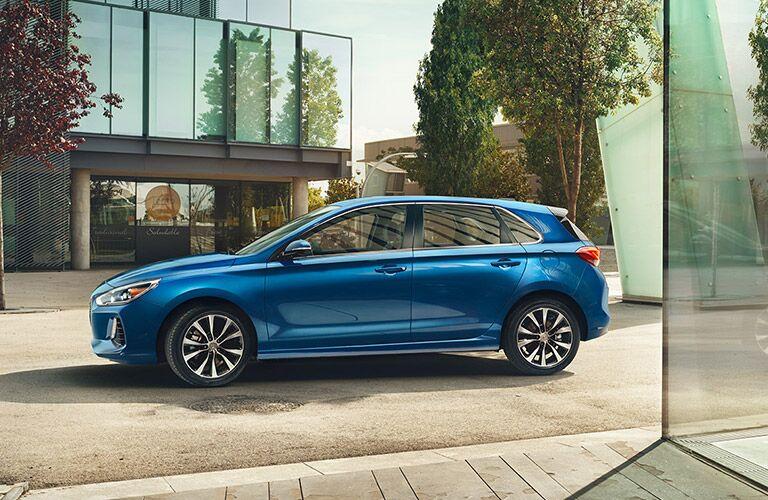2018 Hyundai Elantra GT exterior side blue