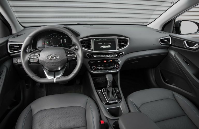 front seating and console of Hyundai IONIQ