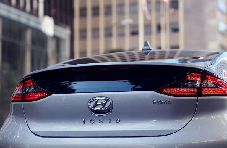 silver 2019 hyundai ioniq hybrid rear end