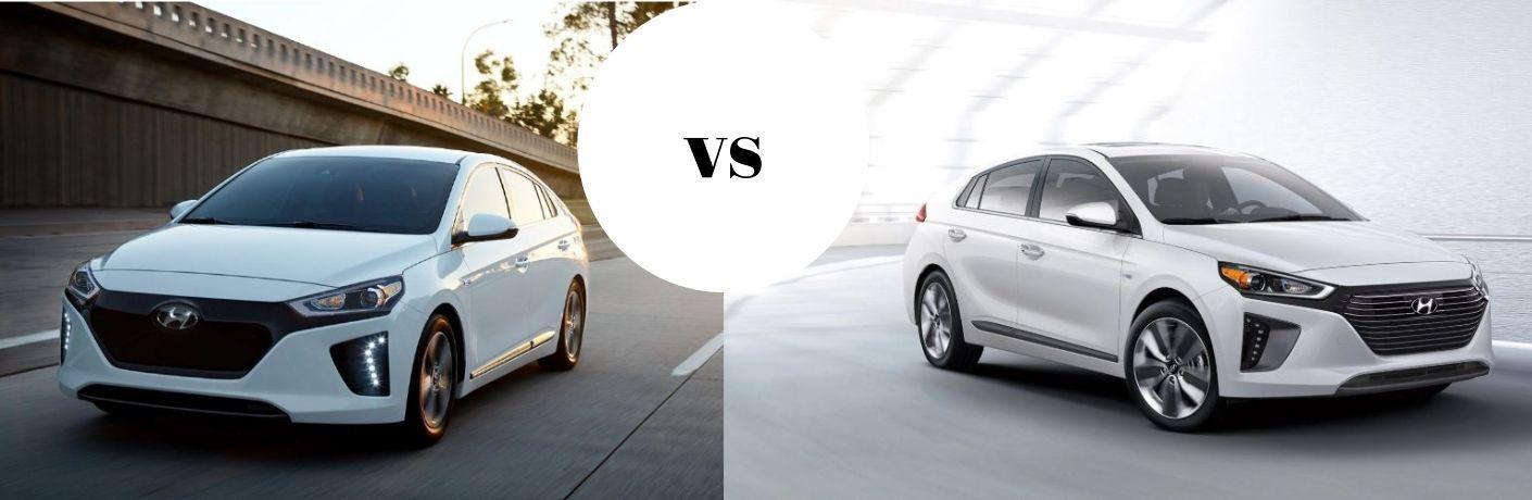 2019 Hyundai Ioniq Electric vs 2019 Hyundai Ioniq Hybrid