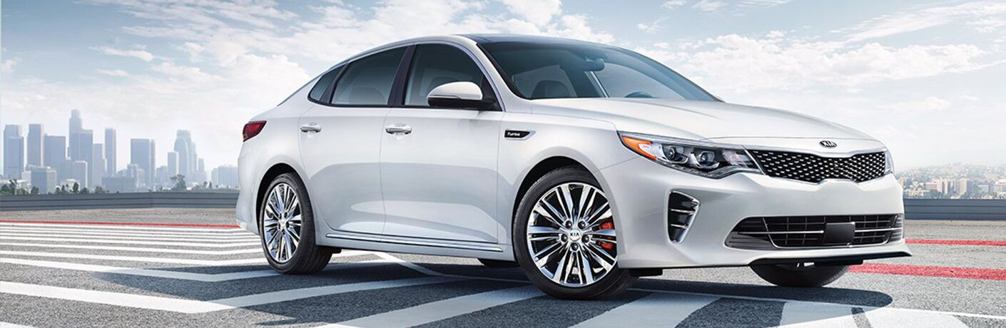 2018 Kia Optima white side view