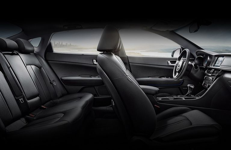 Interior view of the seating inside a 2020 Kia Optima Hybrid
