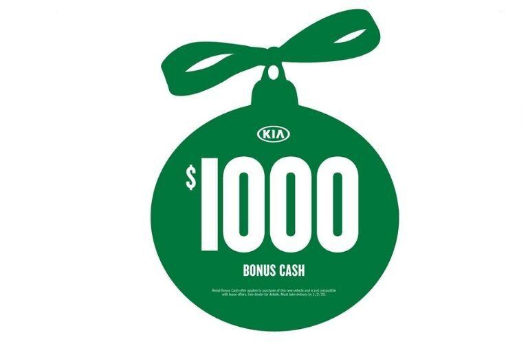 Green Kia $1000 Bonus Cash ornament