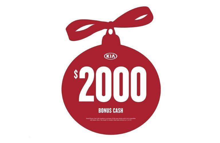 Red Kia $2000 Bonus Cash ornament
