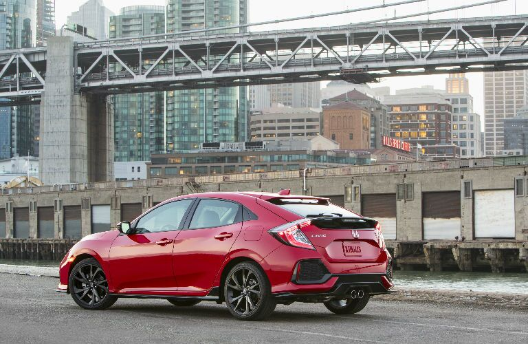 2017 Civic Hatchback in Red
