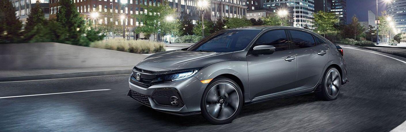 2017 Civic Hatchback in Grey