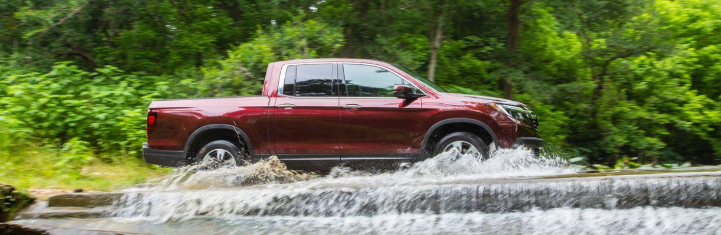 Ridgeline driving through water