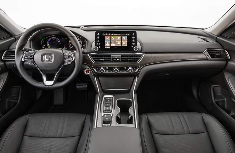2018 Honda Accord Hybrid front steering wheel and dash