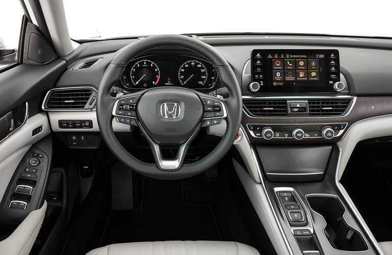 2018 Honda Accord interior dash, steering wheel and display
