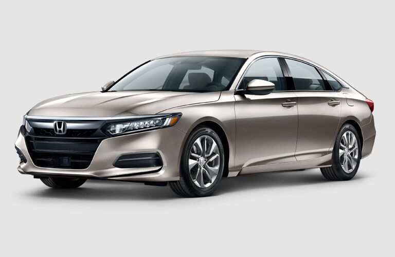 Gold 2018 Honda Accord Front Exterior on a White Background