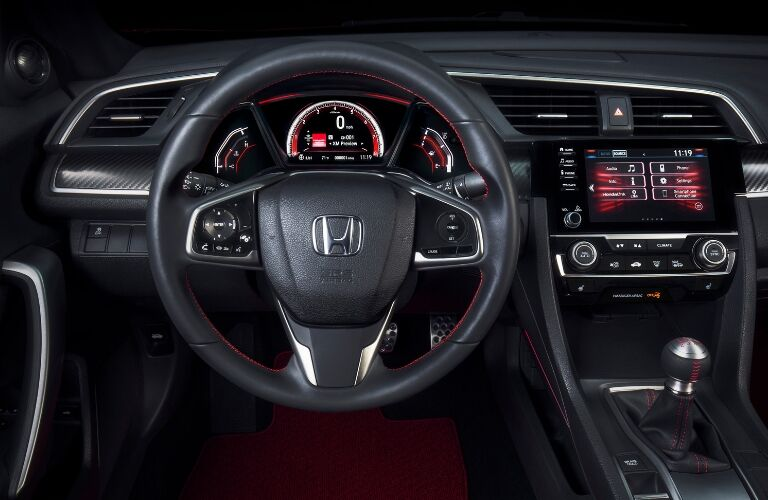 2019 Honda Civic Si Steering Wheel and Display Audio Touchscreen
