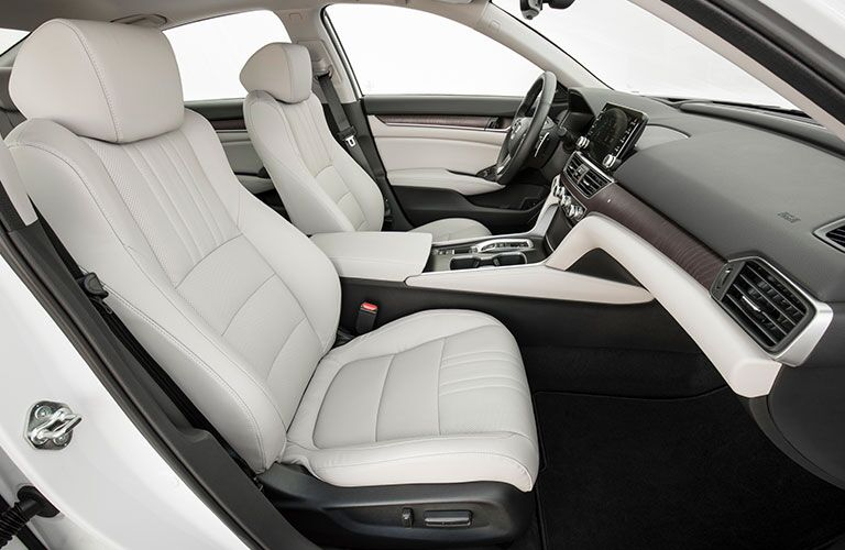 2018 Honda Accord interior with view of dashboard and front seats