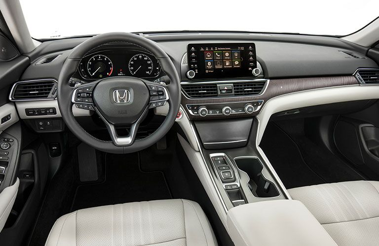 2018 Honda Accord dashboard, steering wheel and touch screen display