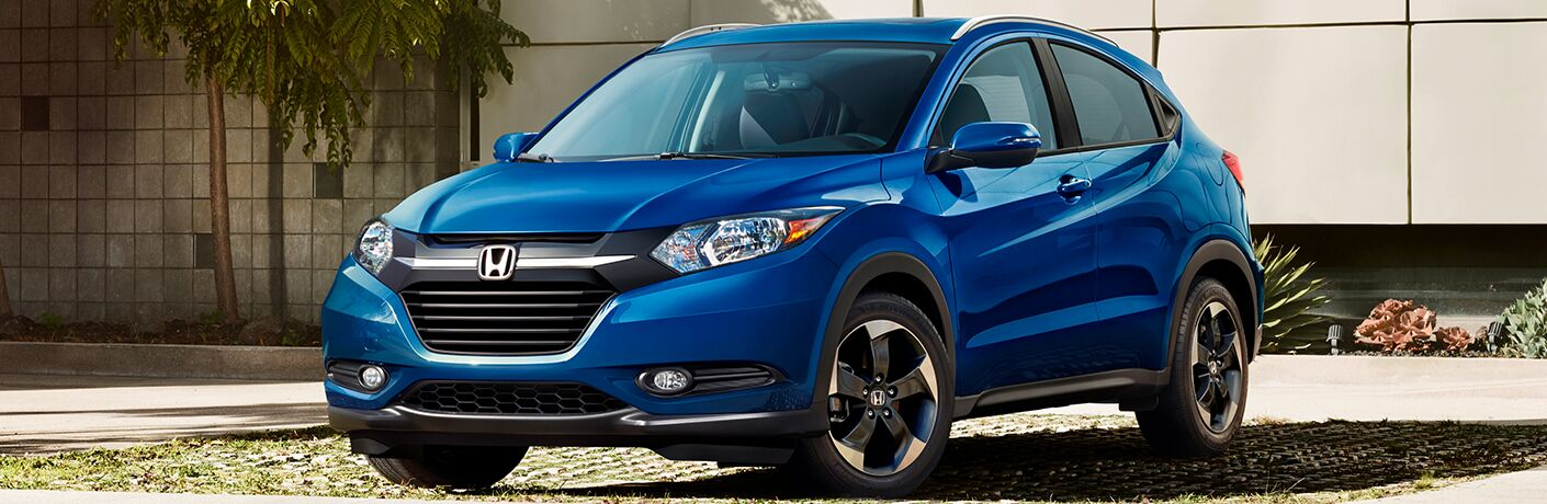 blue 2018 Honda HR-V parked