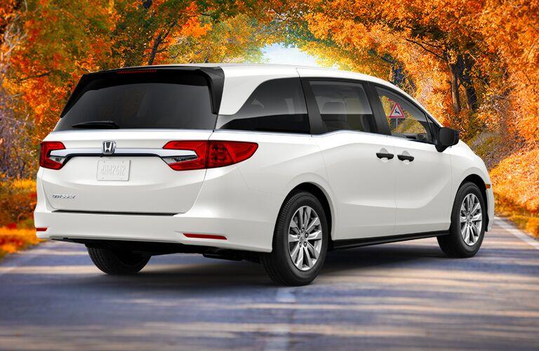 2019 Honda Odyssey rear in white