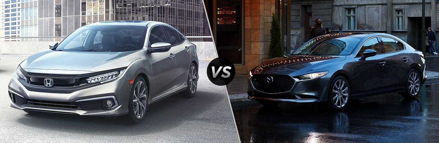 2019 Honda Civic vs 2019 Mazda3