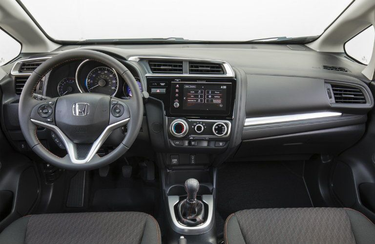 steering wheel and dashboard in 2019 Honda Fit