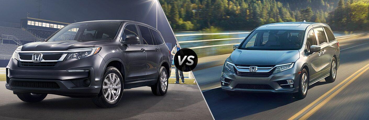 2019 Honda Pilot vs 2019 Honda Odyssey