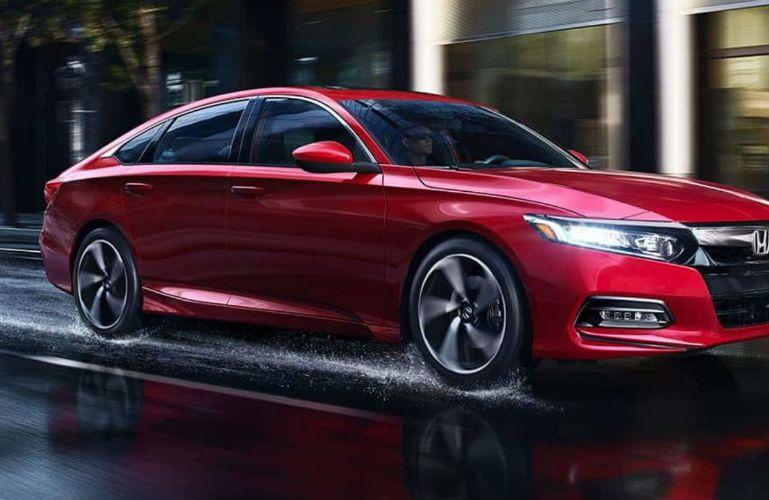 2019 Honda Accord Touring driving through rain