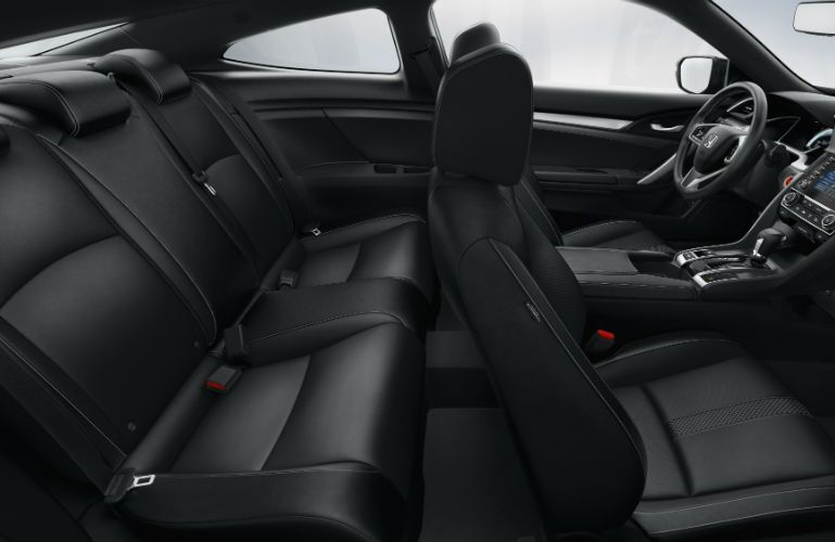 2019 Honda Civic Coupe profile view of seating