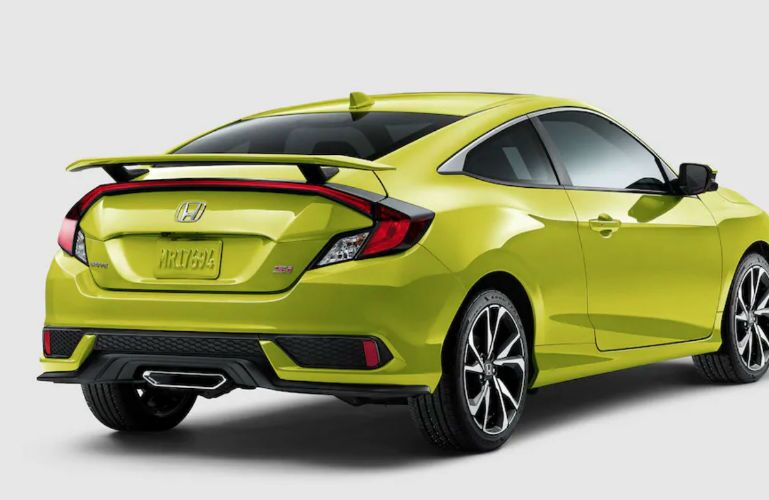 2019 Honda Civic Si Coupe in Tonic Yellow Pearl