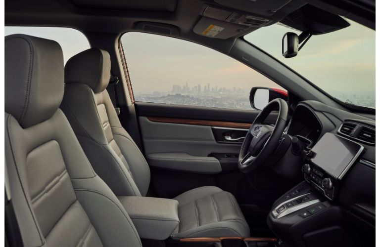 2020 Honda CR-V Hybrid interior side shot of front seating