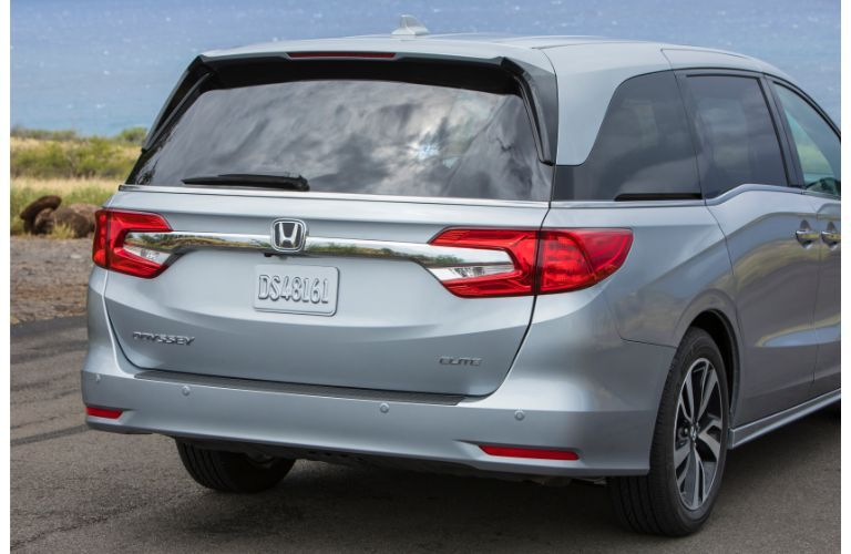 2020 Honda Odyssey exterior rear shot of taillights, trunk, and badging