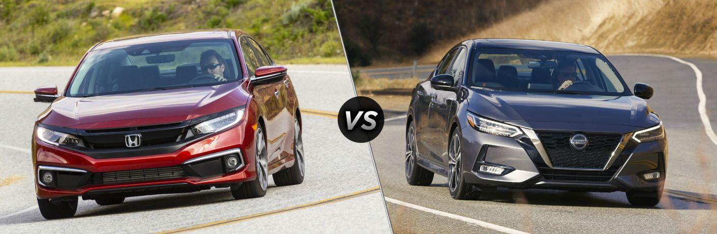 2021 Honda Civic Sedan vs 2021 Nissan Sentra