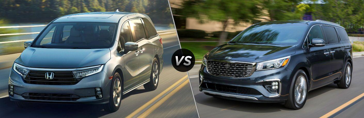 2021 Honda Odyssey vs 2021 Kia Sedona