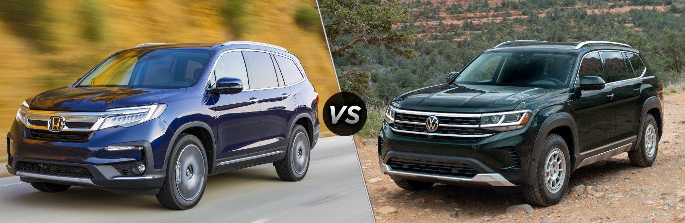 2021 Honda Pilot vs 2021 Volkswagen Atlas