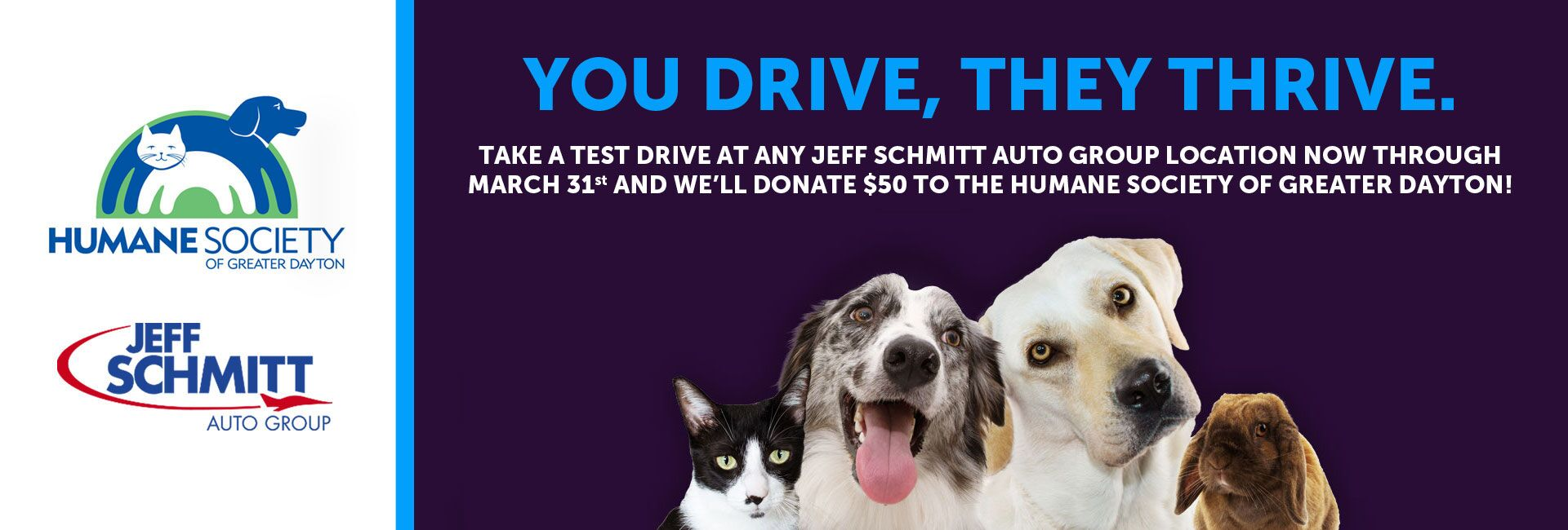 You Drive, They Thrive Event for the Humane Society in Dayton OH.