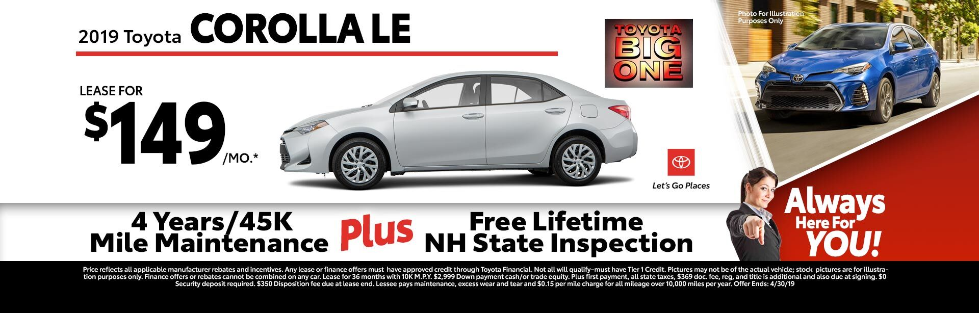 2019 Toyota Corolla LE at McGee Toyota of Claremont