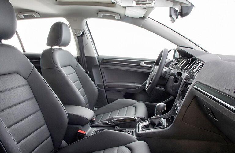 seat inside the Volkswagen Golf