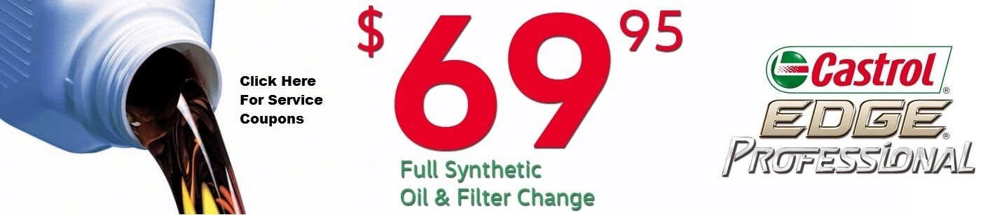 Oil Change Coupons $69.95