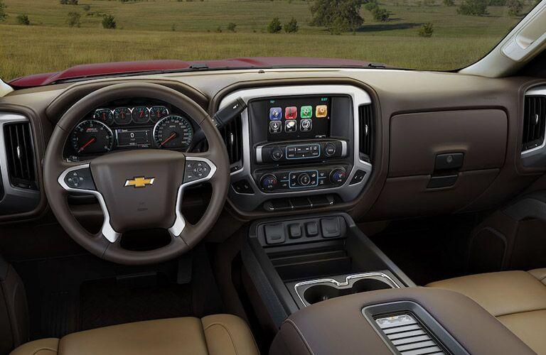 Driver's cockpit of the 2018 Chevy Silverado