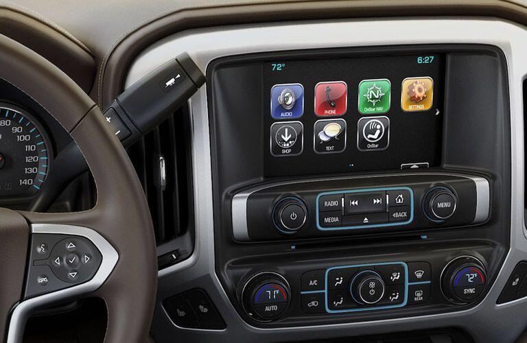 Touchscreen display of the 2018 Chevy Silverado