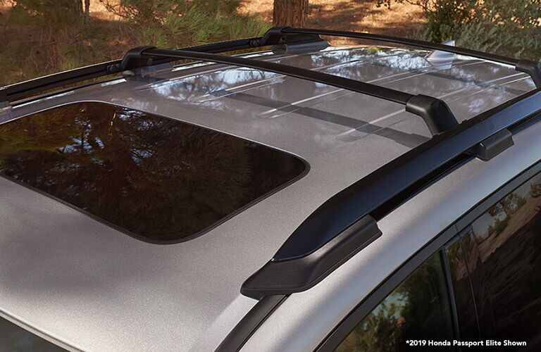 Overhead View of 2019 Honda Passport Moonroof with White *2019 Honda Passport Elite Shown Text