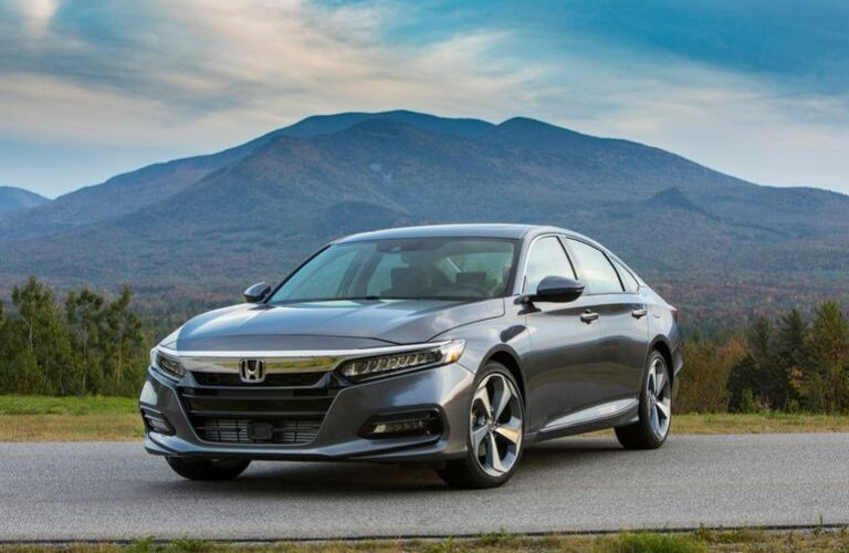 Gray 2020 Honda Accord Touring Front Exterior on a Country Road
