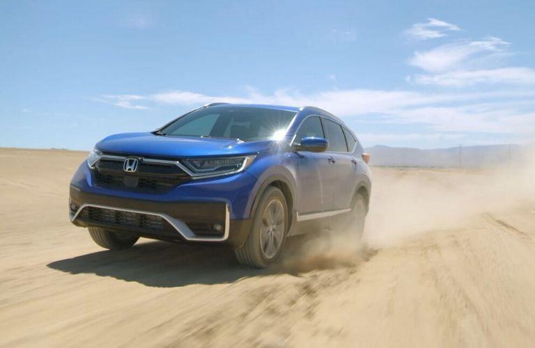 Blue 2020 Honda CR-V in a Desert