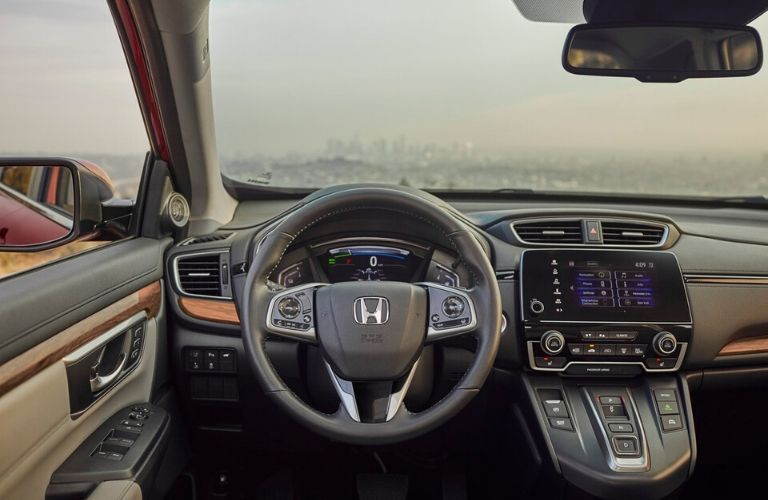 2020 Honda CR-V Hybrid Steering Wheel and Touchscreen Display