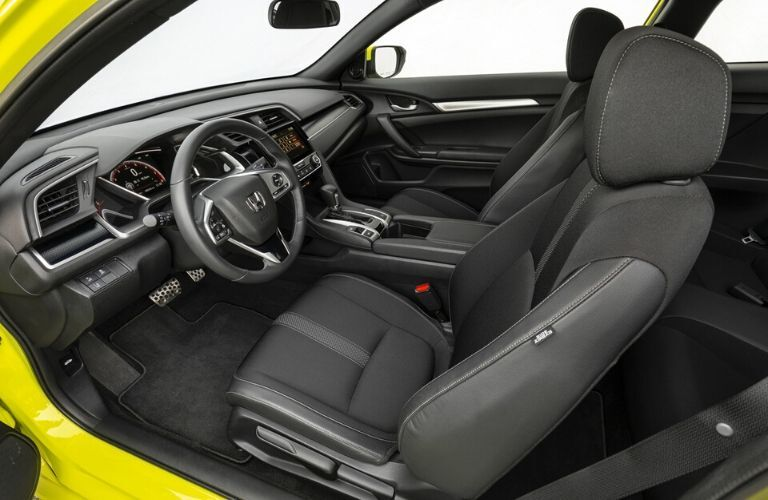 2020 Honda Civic Coupe Sport Front Seat Interior