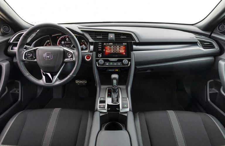 2020 Honda Civic Coupe Sport Steering Wheel and Dashboard