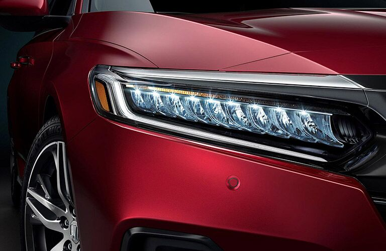 Close Up of 2021 Honda Accord Headlight
