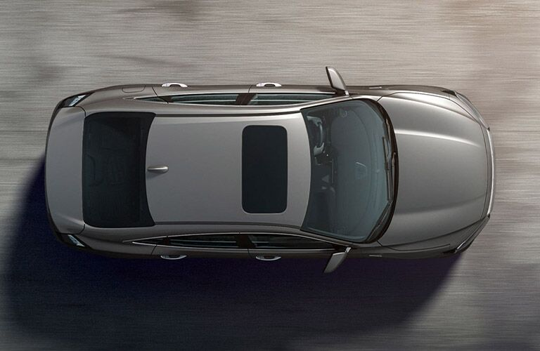 Overhead View of Gray 2021 Honda Insight
