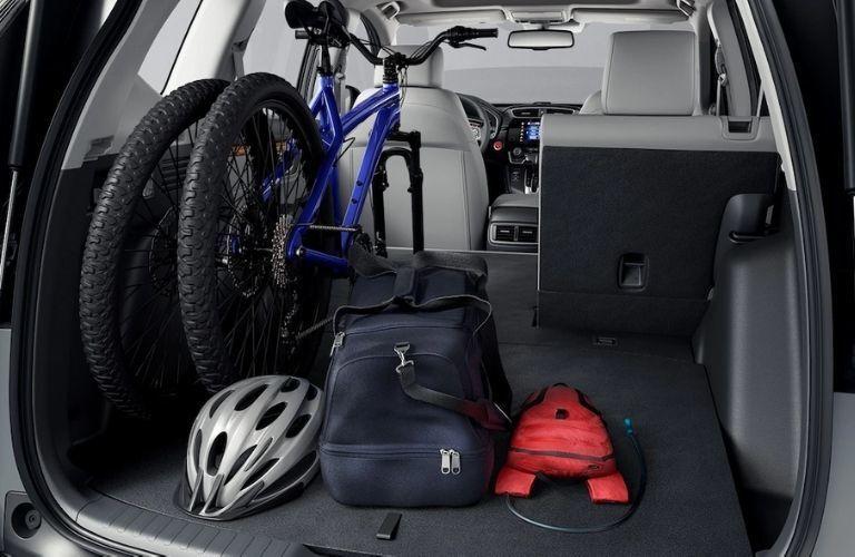 2021 Honda CR-V Hybrid Rear Cargo Space with a Bike