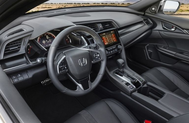2021 Honda Civic Hatchback Steering Wheel and Dashboard