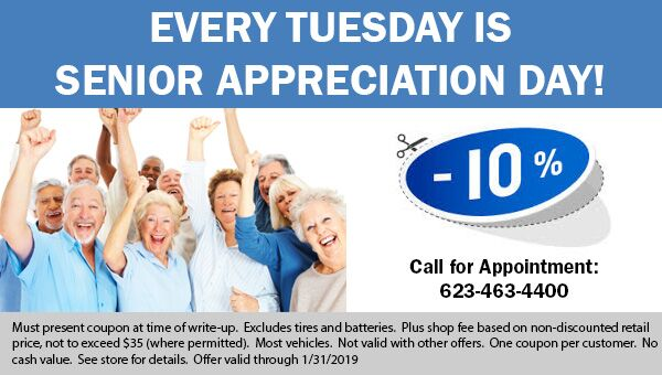 Senior Discount available at Earnhardt Honda in Avondale